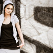 Young woman in hip hop style portrait — Stock Photo #33937929