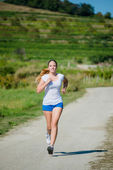 Jogging in nature — Stock Photo