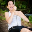 Stock Photo: Swinging on seesaw