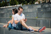 Mobility - couple lifestyle — Foto de Stock