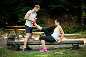 Muscle spasm - after sport training — Stock Photo