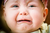 Tears - crying baby — Stock Photo