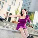 On street - big fun — Stock Photo