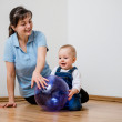 Playing together - mother with baby — Stock Photo