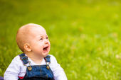 Emotions - baby crying — Stock Photo
