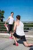 Training - couple exercising — Stock Photo