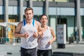 Competizione - jogging in due — Foto Stock