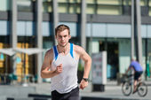 City jogging — Stock Photo