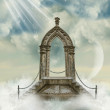 Arch with stairway in the sea — Stock Photo #11772692
