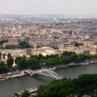 View from Eiffel tower to the Paris city — Stock Photo #13471381