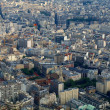 View from Eiffel tower to the Paris city — Stock Photo