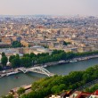View from Eiffel tower to the Paris city — Stock Photo #13471422