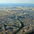 View from Eiffel tower to the Paris city — Stock Photo #13471424
