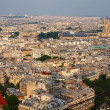 View from Eiffel tower to the Paris city — Stock Photo #13471426