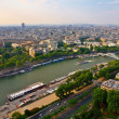 View from Eiffel tower to the Paris city — Stock Photo #13471427