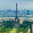 Paris view from Montparnasse tower. France — Stock Photo #13471518