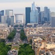 European cities life. Skyscrapers of Paris city - Stock Photo