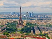 View from Montparnasse tower to the Paris city — Stock Photo