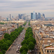 Paris city view to the Defense district — Stock Photo