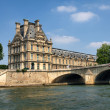 Stock Photo: The Louvre Museum. View from the Seine River.