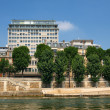 Paris city view as seen from Seine river — Stock Photo