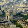 Stock Photo: Paris city aerial view from Eiffel tower
