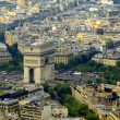 Paris city aerial view from Eiffel tower — Stock Photo #13794866