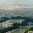 Paris city and seine river view from Eiffel tower — Stock Photo #13794978