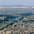 Paris city and seine river view from Eiffel tower — Stock Photo #13794999