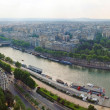 Paris city and seine river view from Eiffel tower — Stock Photo #13795093