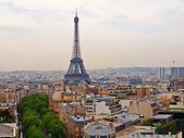 European cities - Paris city objects - Eiffel tower. — Stock Photo