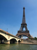 European cities - Paris city objects - Eiffel tower — Stock Photo