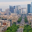 Paris city view to the Defense district — Stock Photo #13976868
