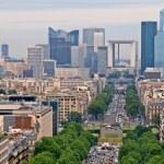 Paris city view to the Defense district — Stock Photo