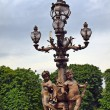 Lamp post along the Pont Alexandre III in Paris — Stock Photo