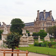 The Louvre Museum and the sculptures in Paris — Stock Photo