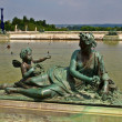 Sculptures and pond of Royal residence at Versailles near Paris in France — Stock Photo