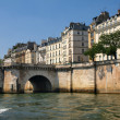 Paris city view as seen from Seine river — Stock Photo #13977042