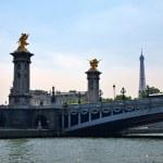 Alexander III bridge in Paris capital of France — Stock Photo