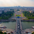 View from Eiffel tower to the Paris city — Stock Photo #13977097