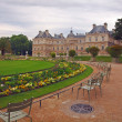 Park in Paris: Jardin du Luxembourg palace — Stock Photo #13977108