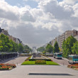 Street view of beautiful european Paris city — Stock Photo