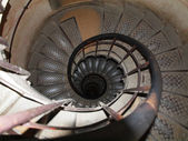Circle stairs in the Arc du triomphe — Stock Photo