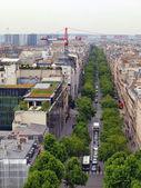 Vista di Parigi città dall'arco di trionfo — Foto Stock