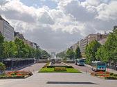 Street view of beautiful european Paris city — Stock Photo