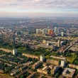 Aerial view of Buitenveldert West Amsterdam Holland — Stock Photo
