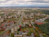 Aerial Vilnius city view from television tower — Stock Photo