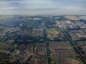 Aerial view of Almere - Buiten city in Holland — Stock Photo