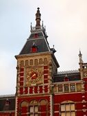Amsterdam Centraal station - center of city — Stock Photo