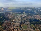 Aerial view of Almere city. Holland. Europe — Stock Photo